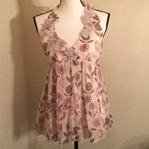 Rebecca Taylor Cotton Silk Blend Blouse